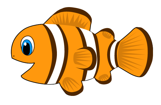 clown fish as a vector image